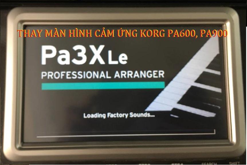 THAY MAN HINH CAM UNG KORG PA600, PA900